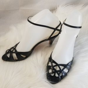 vtg GAROLINI Made in Italy Leather Strappy Sandals